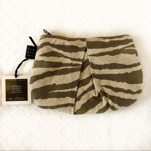 NWT Zebra Print Small Bag